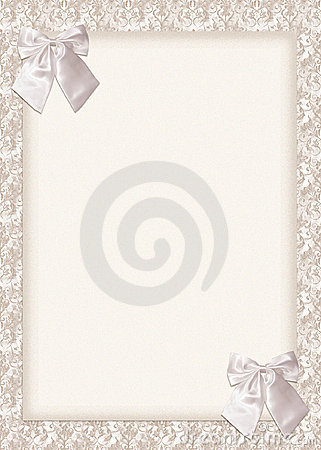 Wedding Invitation card with bows
