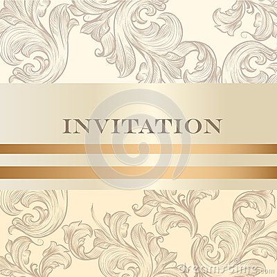 Wedding invitation card for design