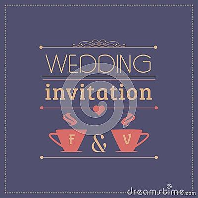 Wedding invitation card template