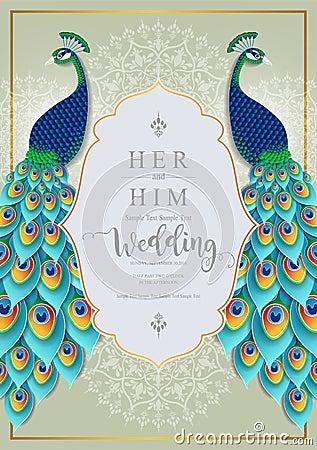 Free Wedding Invitation Card Templates . Stock Photos - 119493983