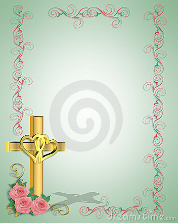 simple christian wedding invitations