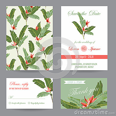 Free Wedding Invitation. Congratulation Card Set. Save The Date Royalty Free Stock Images - 71721819