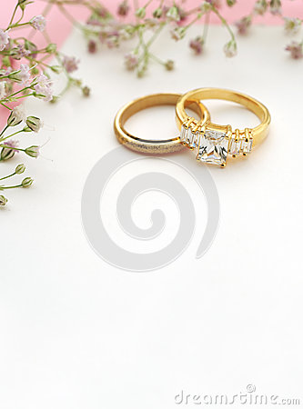 Wedding Invitation With Copy Space Stock Photo