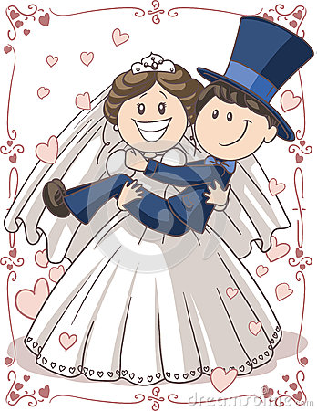 Women Searching For Guys? – Could it be Easy? wedding invitation couple vector cartoon bride groom funny pose cute characters swirl borders pastel colors ai 31939393