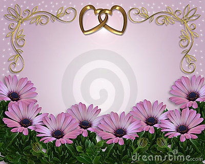 Wedding invitation Daisy Border