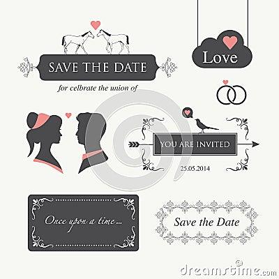 Free Wedding Invitation Design Element Royalty Free Stock Images - 28820319