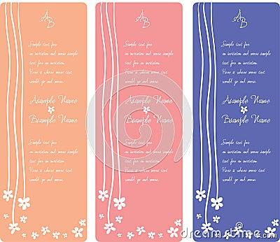 Wedding Invitation Panels