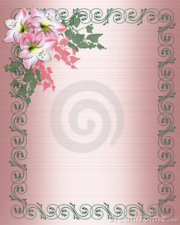 Free Wedding Invitation Pink Floral Border Royalty Free Stock Images - 8984419
