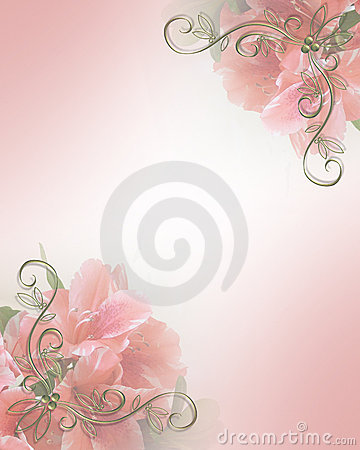 Free Wedding Invitation Pink Floral Design Royalty Free Stock Photos - 4437618