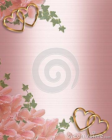 Wedding Invitation Pink Satin Stock Photos - Image: 8223473