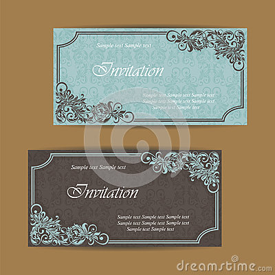 Wedding invitation and save the date cards Stock Photo