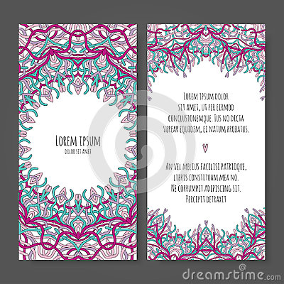 Wedding invitation template Vector Illustration