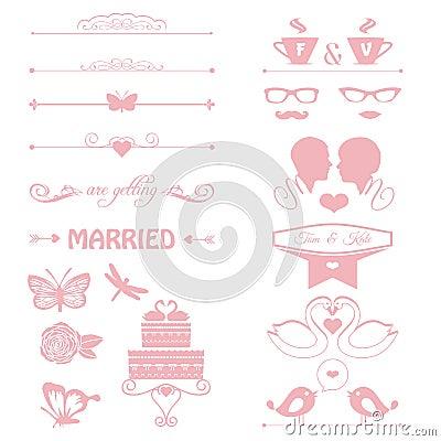 Free Wedding Invitation With Cake, Flowers, Couple Stock Photo - 34942940