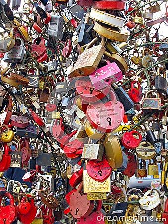 Wedding locks Editorial Image