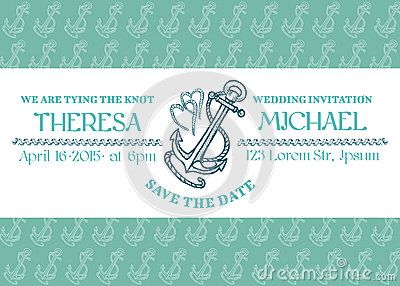 Wedding Marine Invitation Card