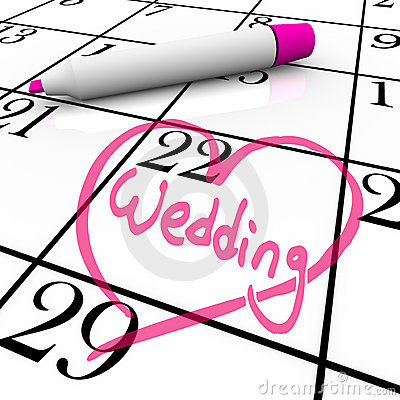 Wedding - Marriage Day Circled with Heart