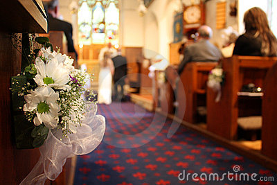 Wedding nella chiesa