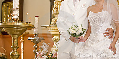 Wedding In Orthodox Church Stock Photo - Image: 17954400