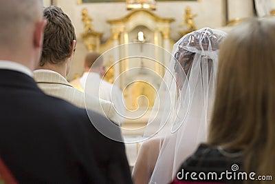Wedding party at church