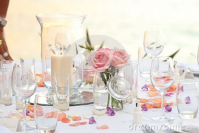 Wedding or party dinner table
