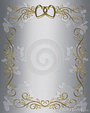 Wedding or Party Invitation Satin