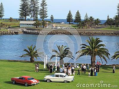 Wedding celebration at bay Editorial Photography