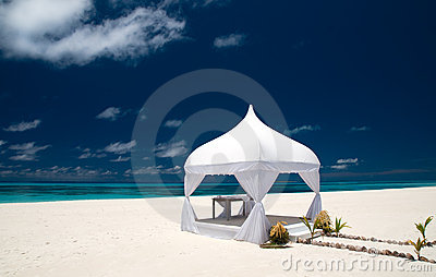 Wedding pavilion at the beach