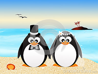 Wedding penguins