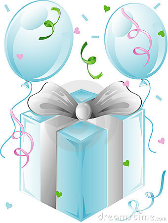 Free Wedding Present And Balloons Royalty Free Stock Photo - 5505575