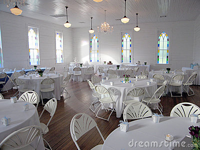 Wedding Reception Hall Royalty Free Stock Photography