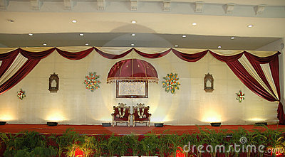 Wedding and reception stage
