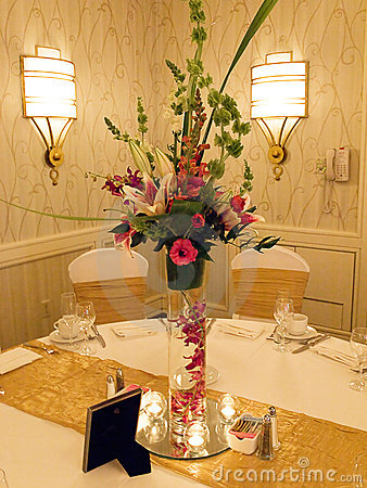 Free Wedding Reception Table Stock Image - 6898171