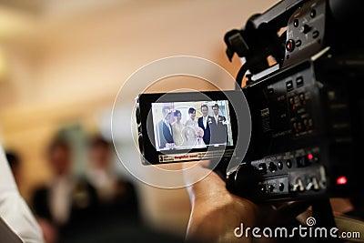 Wedding Recording Editorial Photo