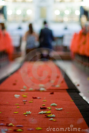 Wedding red carpet