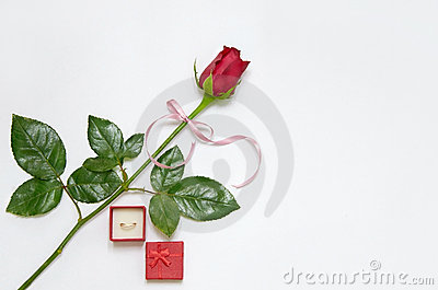 Wedding Ring With Rose