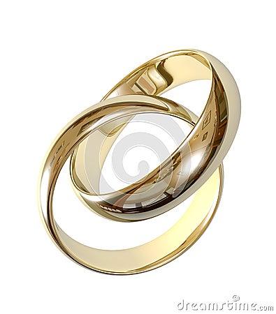 Free Wedding Rings 3D Stock Photos - 2188633