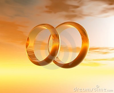 Wedding rings. 3D graphics