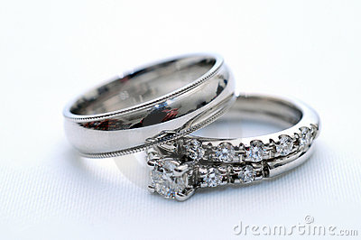 wedding rings on a nice white background - Nice Wedding Rings