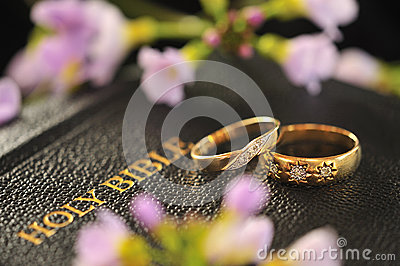 Wedding rings, Bible