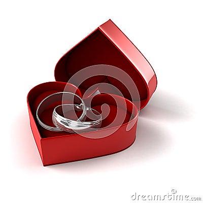 Wedding Rings In Case