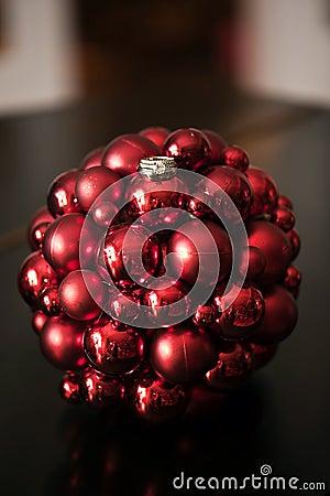 Wedding rings on Christmas ornament