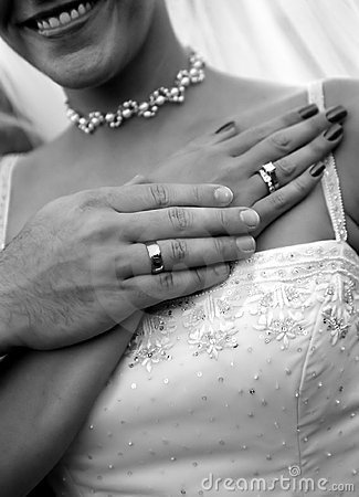 Wedding rings & couple
