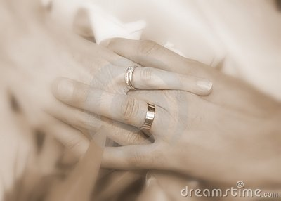 Wedding rings - husband and wife