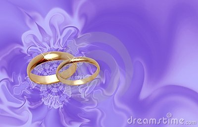 wedding rings on lilac material stock photos image 514293