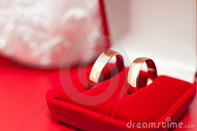 Wedding rings, macro
