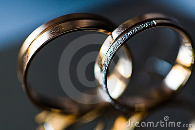 Wedding rings macro