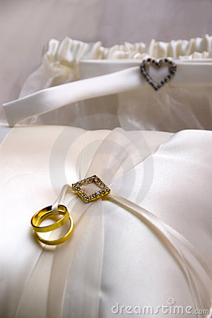 Wedding Rings and Pillow