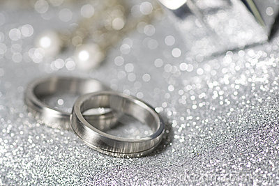 Wedding Rings In Silver Royalty Free Stock Photography Backgrounds