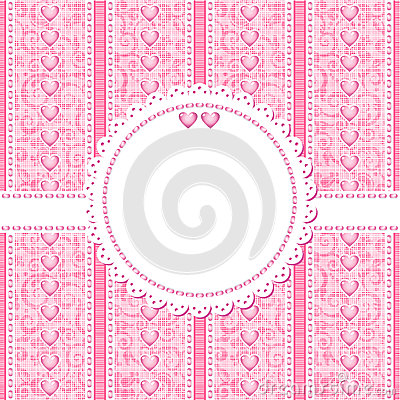 Wedding, romantic or Valentine Day card template