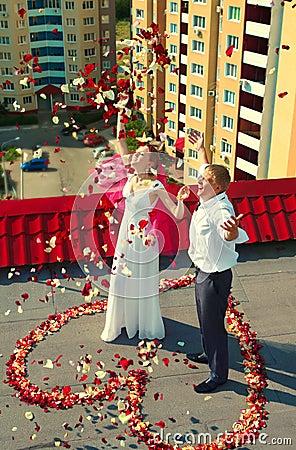 Wedding on roof
